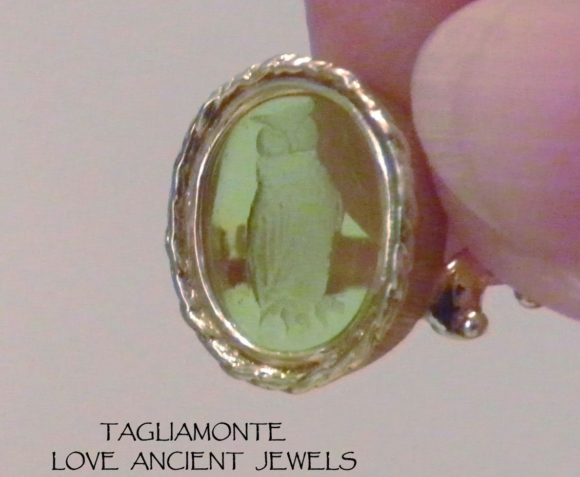 18k tagliamonte ring sz10 25 green venetian intaglio owl the 18k tagliamonte ring sz10 25 green venetian intaglio owl the symbol for athena ebay biocorpaavc Images