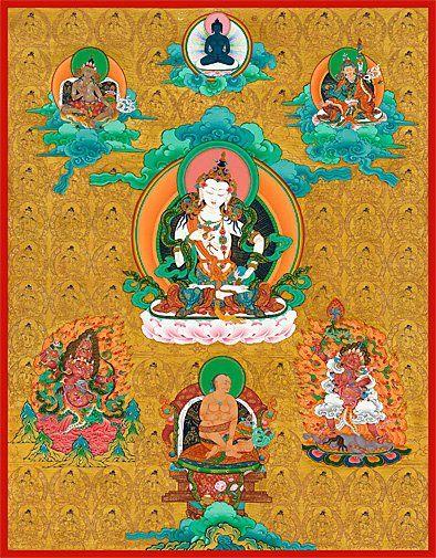 Golden Vajrasattva thangka (sertan),