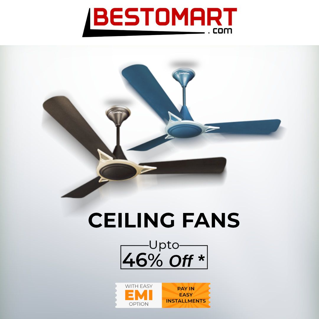Buy Quality Ceiling Fans From Renowned Brand At Best Price In
