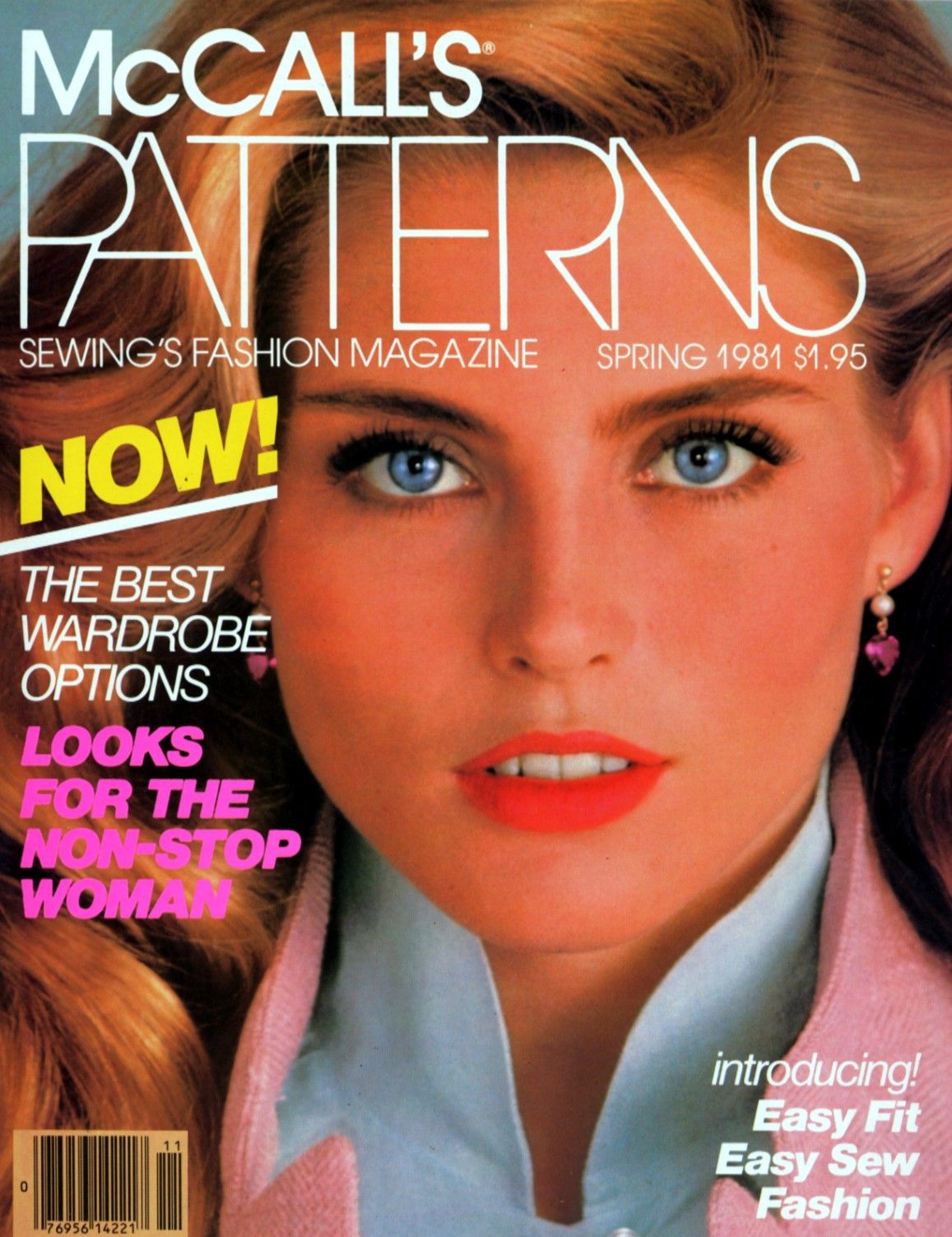 Kim Alexis covers Mc Call's Pattern Magazine (US) Spring 1981