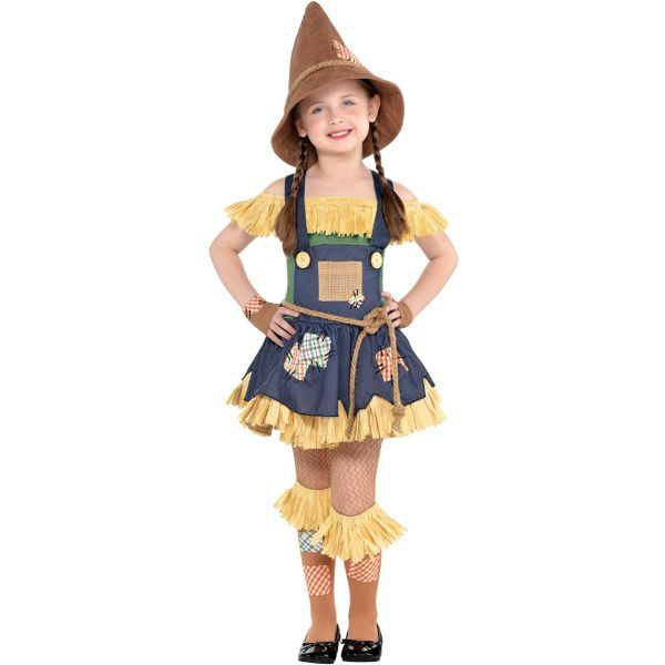 a4289d0c42 Little Girls Scarecrow Costume - The Wizard of Oz
