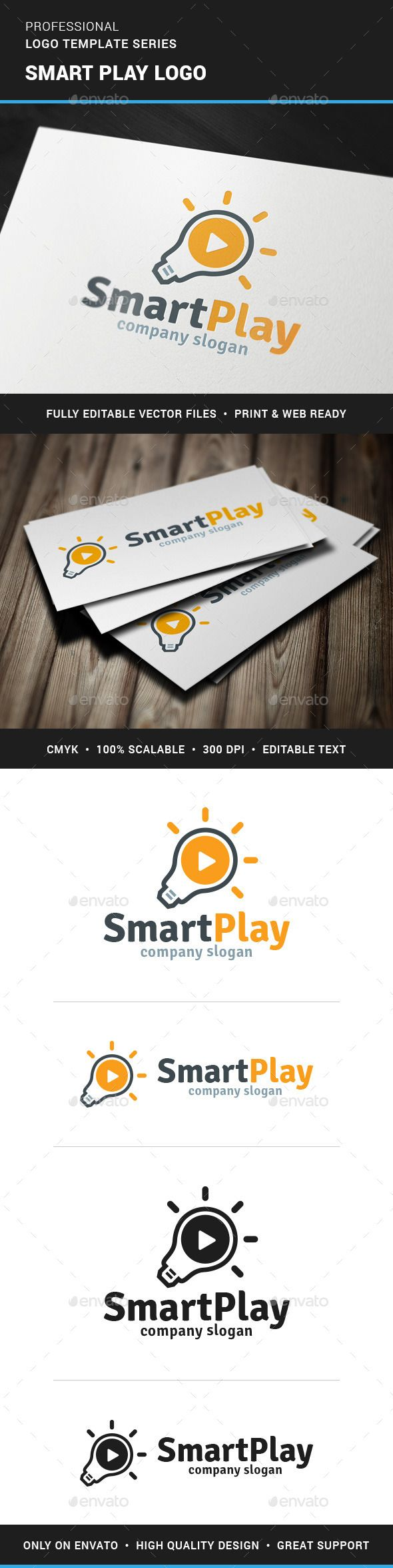 Smart Play Logo Template — Vector EPS #icon #mind • Available here → https://graphicriver.net/item/smart-play-logo-template/11606726?ref=pxcr