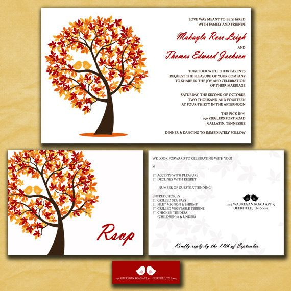 17 Best images about Fall Wedding Invitations on Pinterest ...