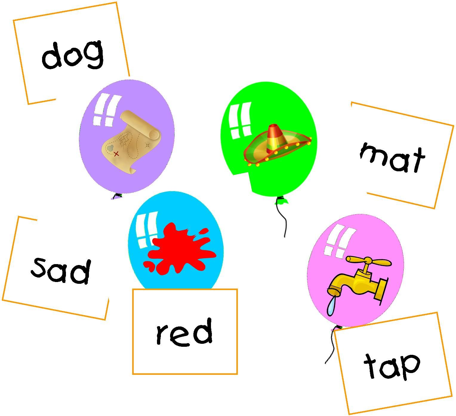 A Simple Cvc Matching Game Where Kids Match Pictures With
