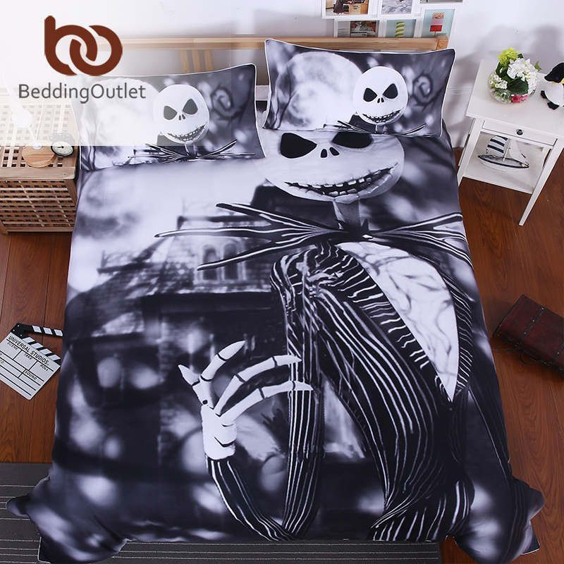 Hot Sale Nightmare Before Christmas Bedding Set Qualified Bedclothes Unique Design N Nightmare Before Christmas Bedding Christmas Bedding Christmas Bedding Set