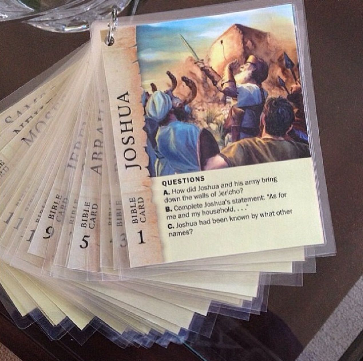 Game cards biblical persons (downloaded from jw org, printed