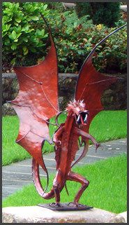 Sentry Dragon Garden Statue  Now This Is Garden Sculpture I Really Want!!  Niiiice
