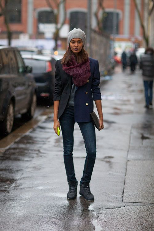 Street Style Fall 2013: Milan Fashion Week - Joan Smalls
