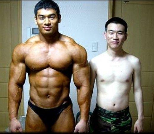 Skinny guys vs muscular guys