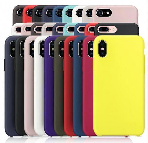 Comprar Original De Silicone Têm Logo Caso Para Iphone 7 Mais Caso Para Iphone X 8 Plus Capa Para Ap Estuche Para Iphone Iphone 7 Plus Funda Fundas Para Iphone
