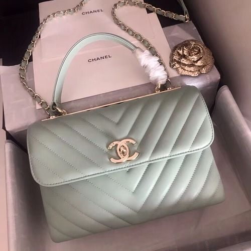 Chanel Small Flap Bag With Top Handle 2019 A69923 Mint