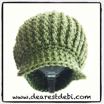 Crochet Newsboy Ribbed Baby Beanie Free Pattern Crochet