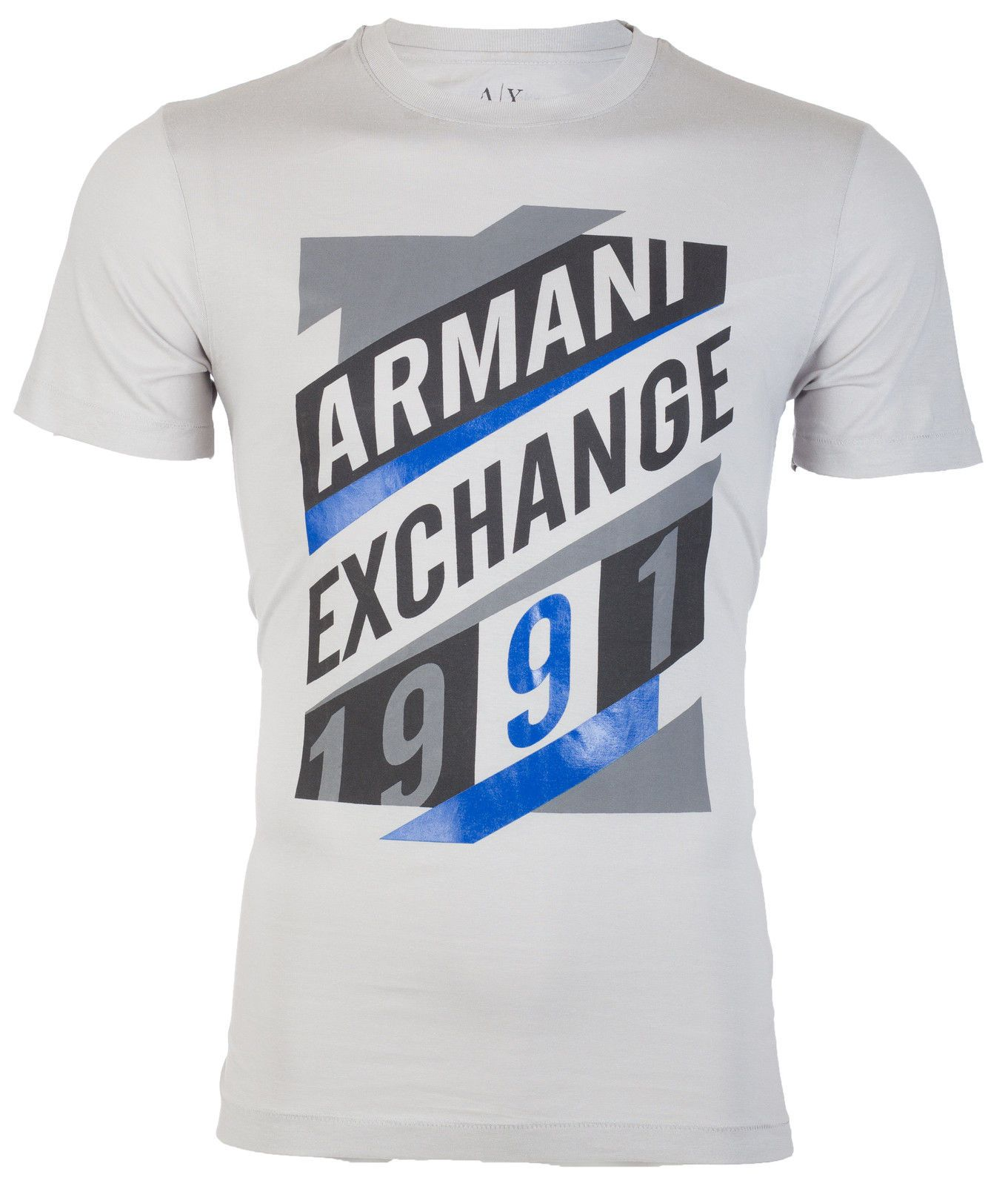 fe5e5d55 ARMANI EXCHANGE Mens T-Shirt AN-16 Slim LIGHT GREY Designer $45 ...