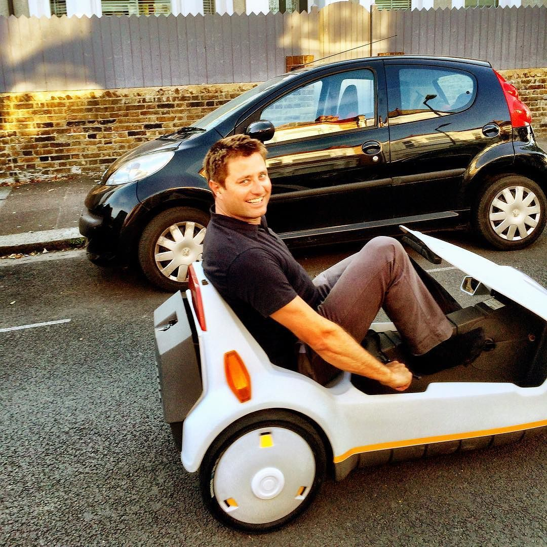 Me and my original Sinclair C5...great fun! by mrgeorgeclarke