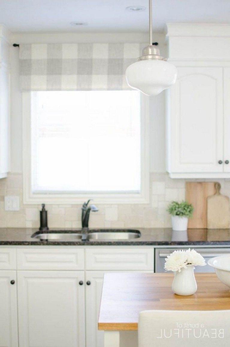 70 beautiful farmhouse kitchen curtains decor ideas small farmhouse kitchen farmhouse on farmhouse kitchen valance ideas id=41808