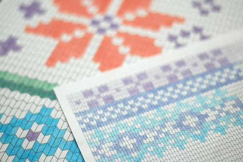 Knit Stitch shaped graph paper - free download In stitches - graph sheet download