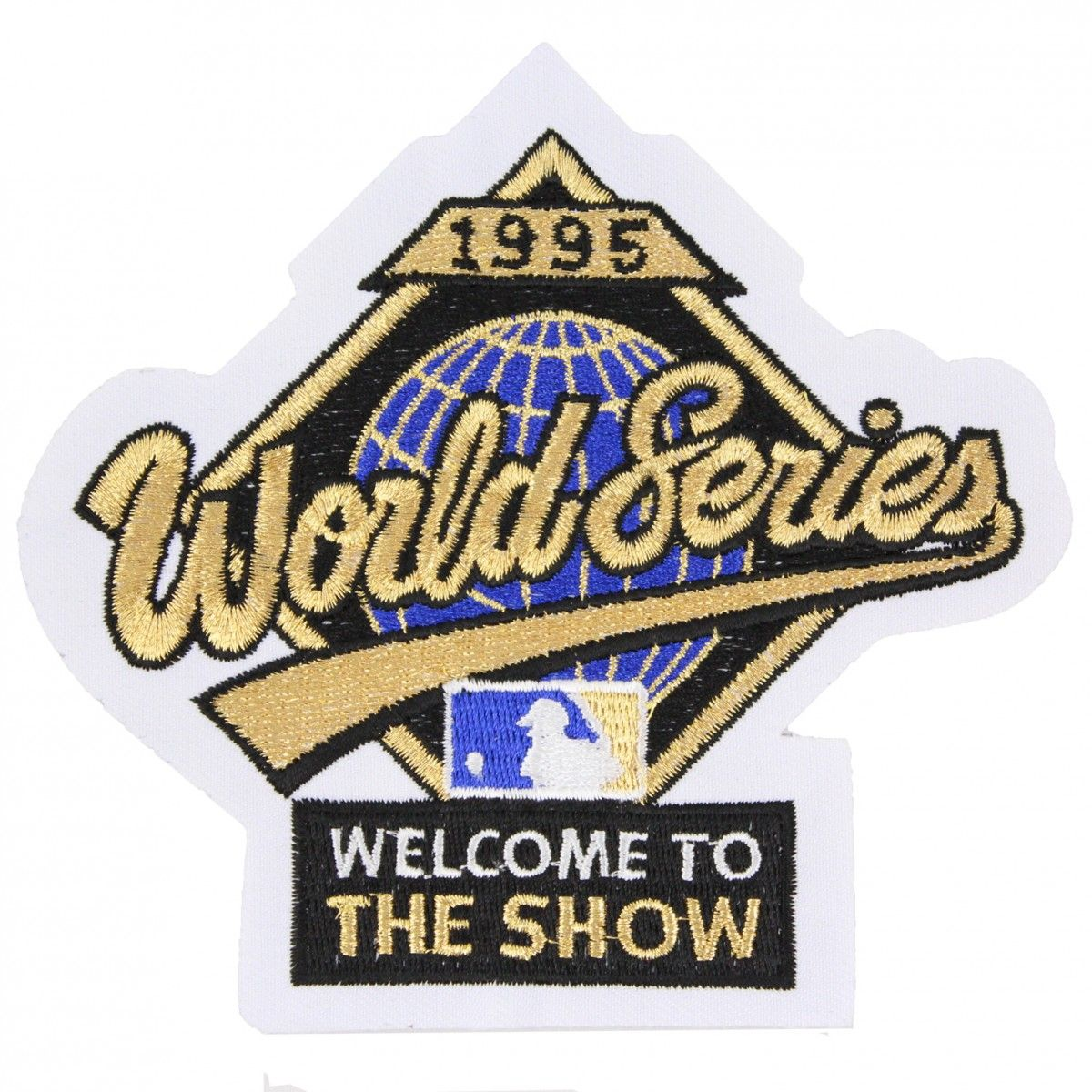 1995 Mlb World Series Logo Jersey Patch Atlanta Braves Vs Cleveland Indians Mlb Baseball Logo Atlanta Braves Mlb World Series