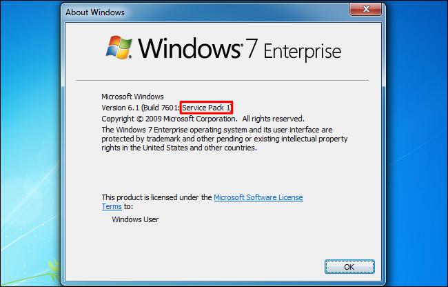 windows 7 version 6.1 build 7601 service pack 1 download