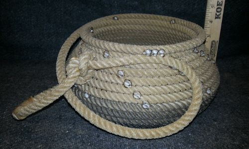 Rope Basket Cowboy Western Decor Wedding Furniture