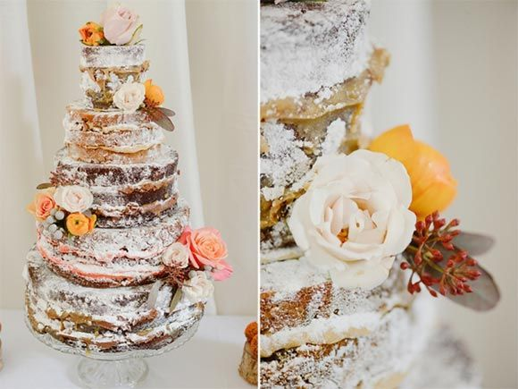 Naked wedding cakes.