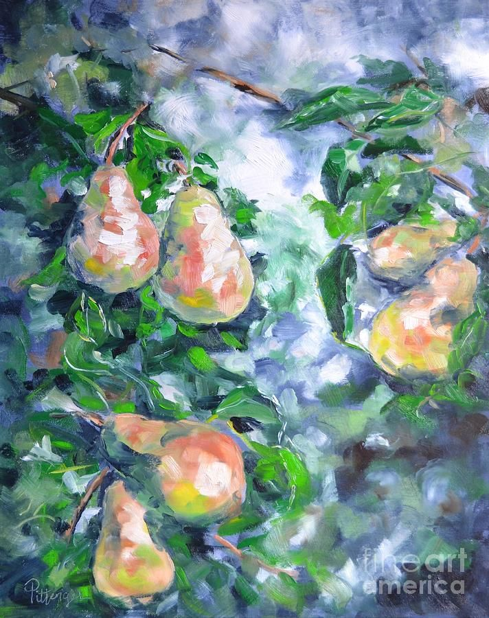 Pittenger Painting - Paired Pears by Lori Pittenger