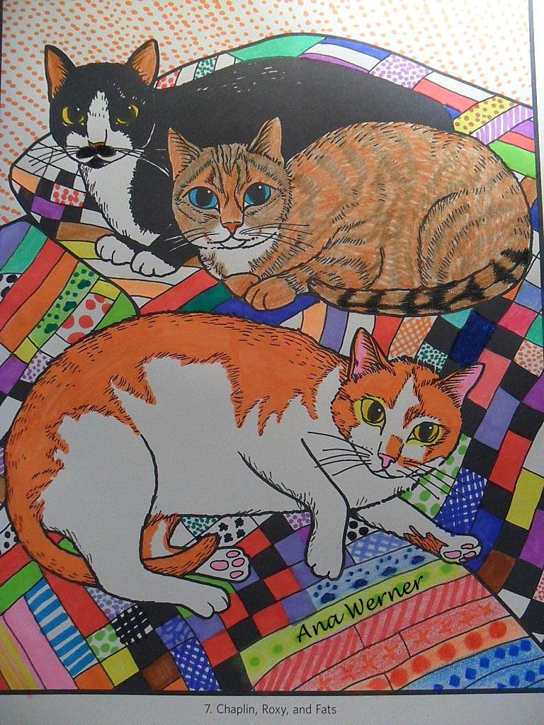 Mimi Vang Olsen Cats Coloring Book #catcoloring  #mimivangolsen  #CatsColoringBook #cat #gatos  #livrosparacolorir  #colorindogatos