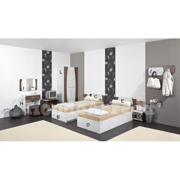 Arredamento alberghi – Camera da letto doppia modello merida ...