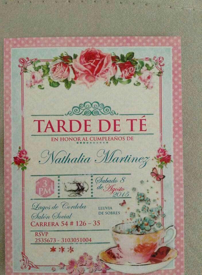 Invitación Tarde De Té Invitaciones A Fiesta De Té