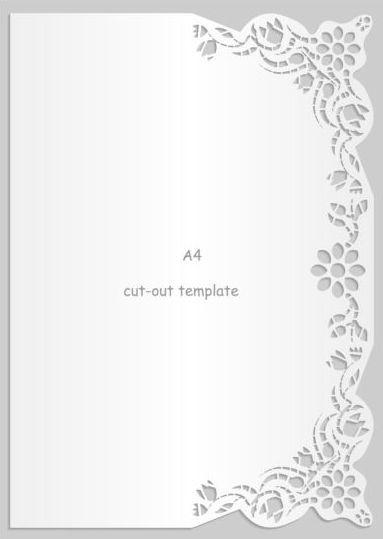 White A4 Paper With Lace Vector Material 19 Invitaciones