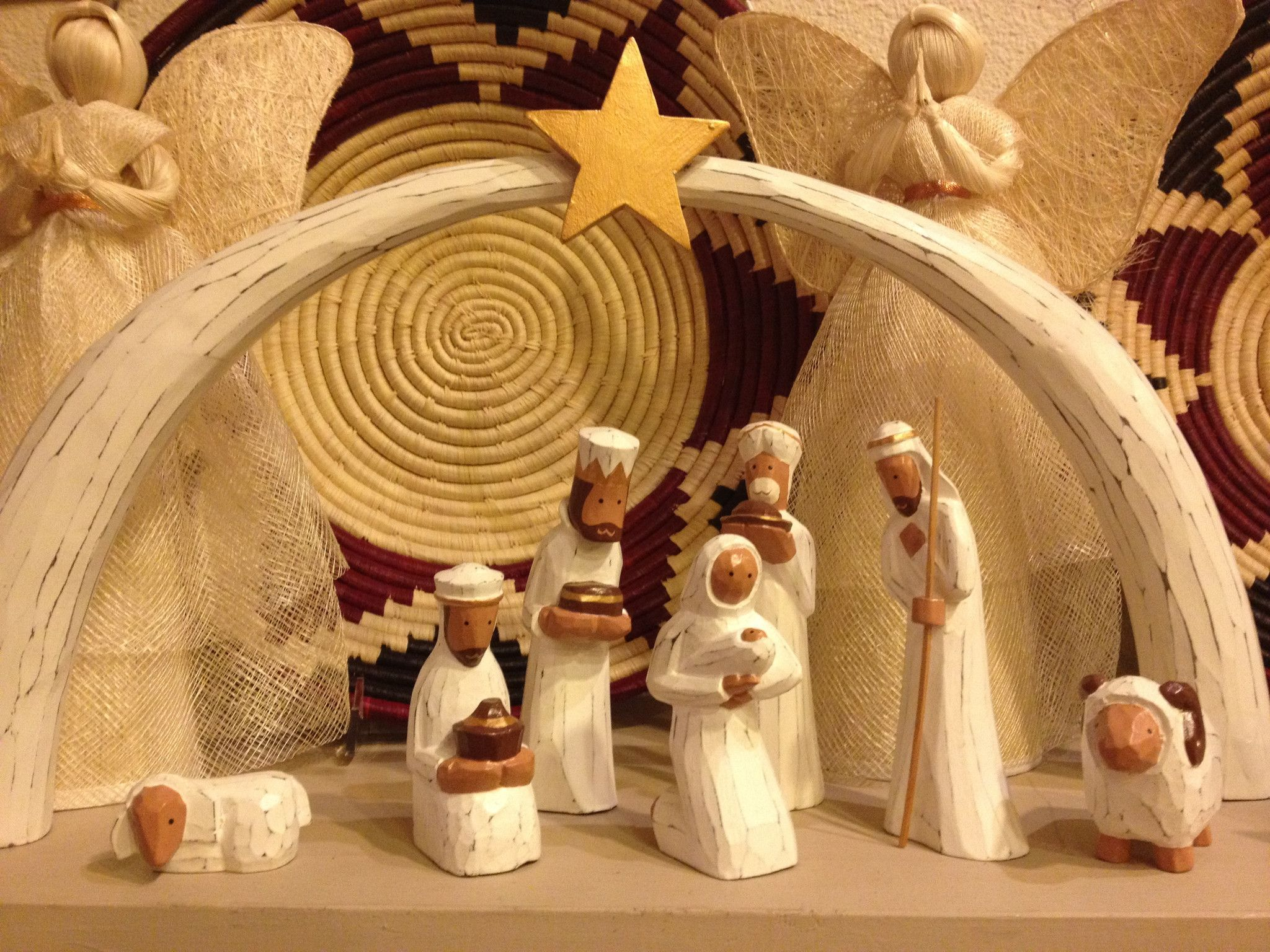 This Gorgeous Fair Trade Indonesian Wood Nativity Set Is Hand Carved