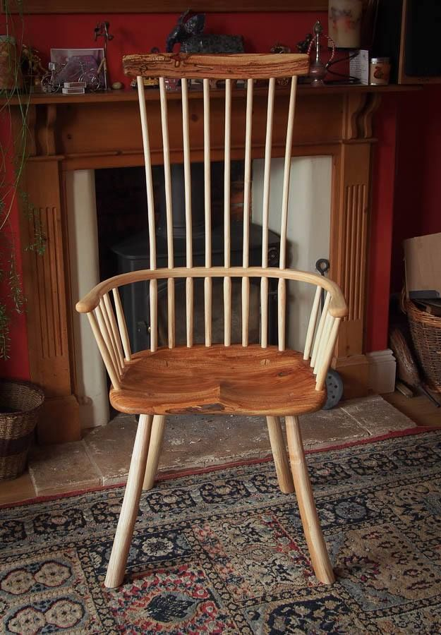 Dave Cockcroft Elm Welsh Stick Chair Chair Antique