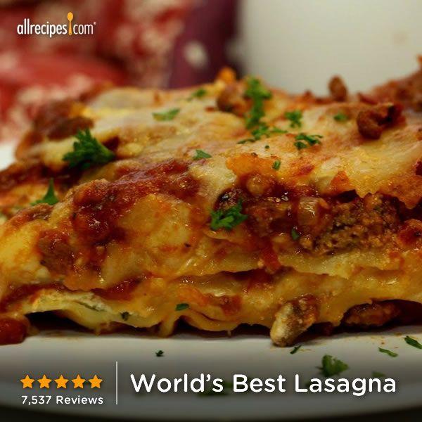 World S Best Lasagna Best Lasagna Recipe Worlds Best Lasagna Recipes