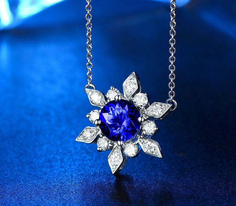 Ilfullxfull810704381ezlxg wedding ideas pinterest snowflake white gold blue tanzanite diamond pendant by jujuden mozeypictures Images