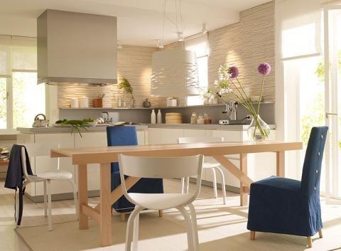 Steintapete und Laminat OBI Farbwelten Pinterest Room and House - offene wohnkchen