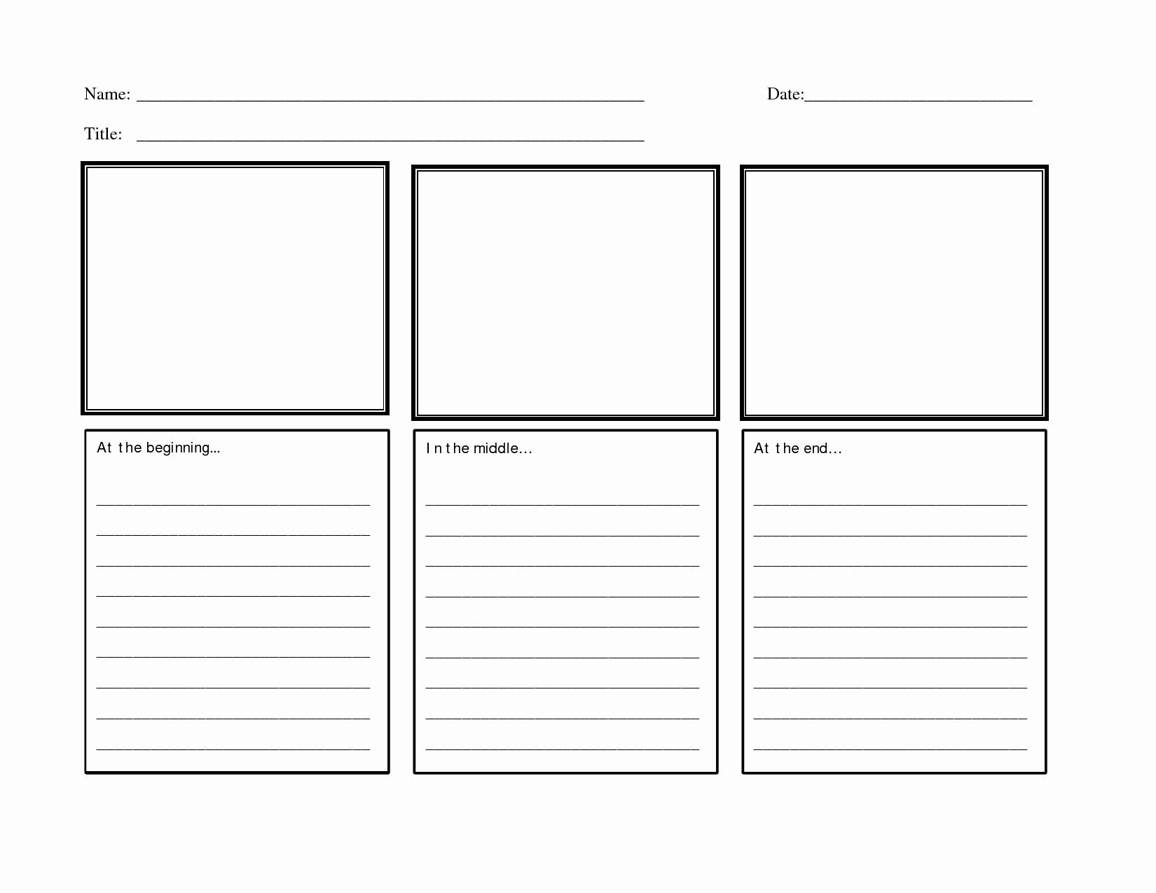 50 Beginning Middle End Worksheet In With Images