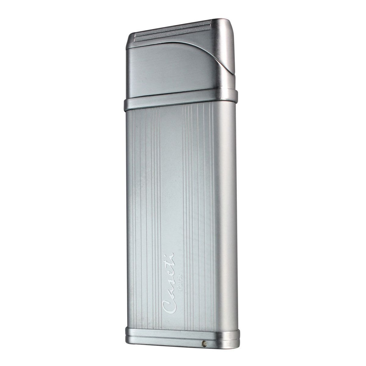 Caseti Alchemy Windproof Flame Coil Lighter - Satin Chrome Lines