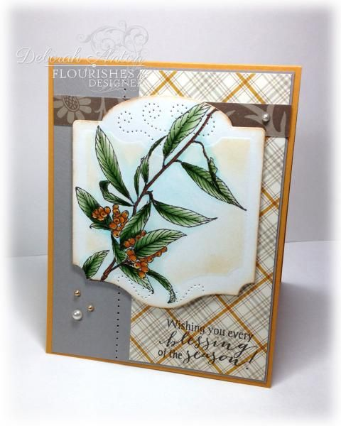 BS-Autumn Berries by beadn&stampn - Cards and Paper Crafts at Splitcoaststampers