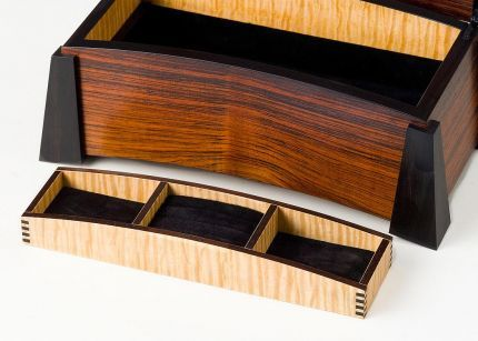 Jewelry Box Bent Laminated Lid Reader S Gallery Fine
