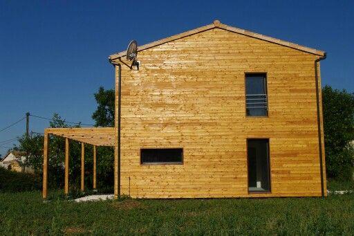 Maison ossature bois, bardage mélèze Construction maison ossature