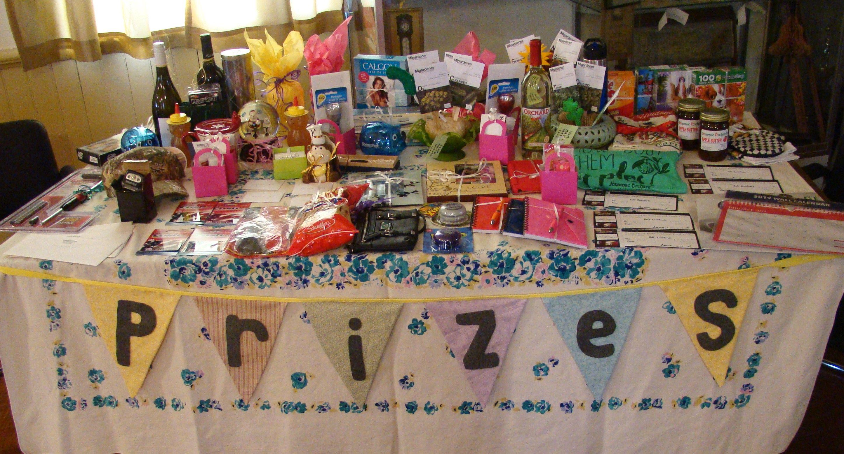 Community bingo prize table bingo party fun sleepover