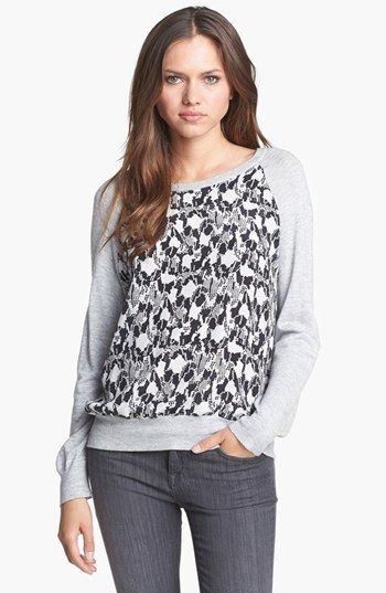 Joie Malena B Mixed Media Sweater Available At Nordstrom
