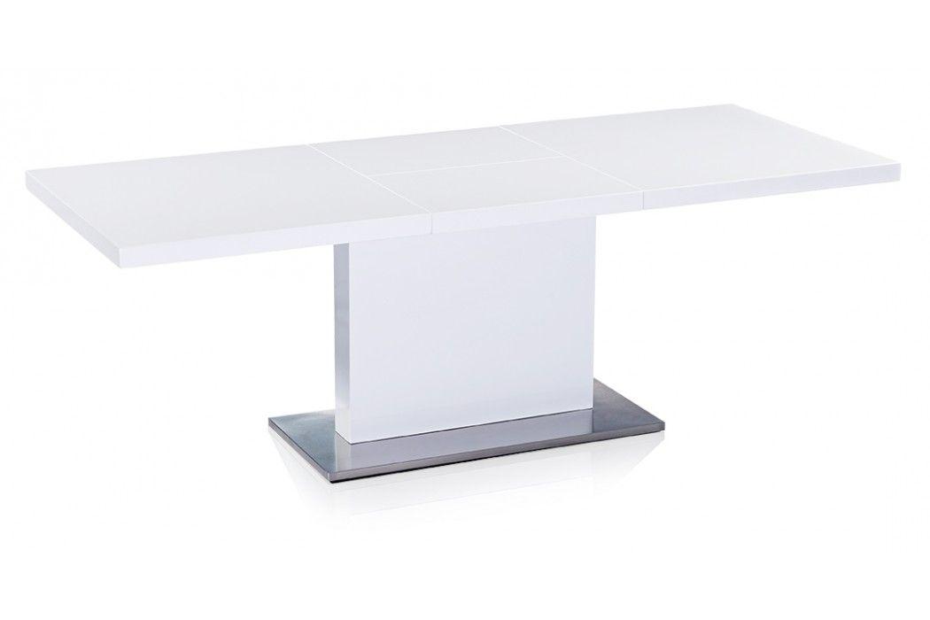 Lexington Extendable Mid Century Modern Dining Table White