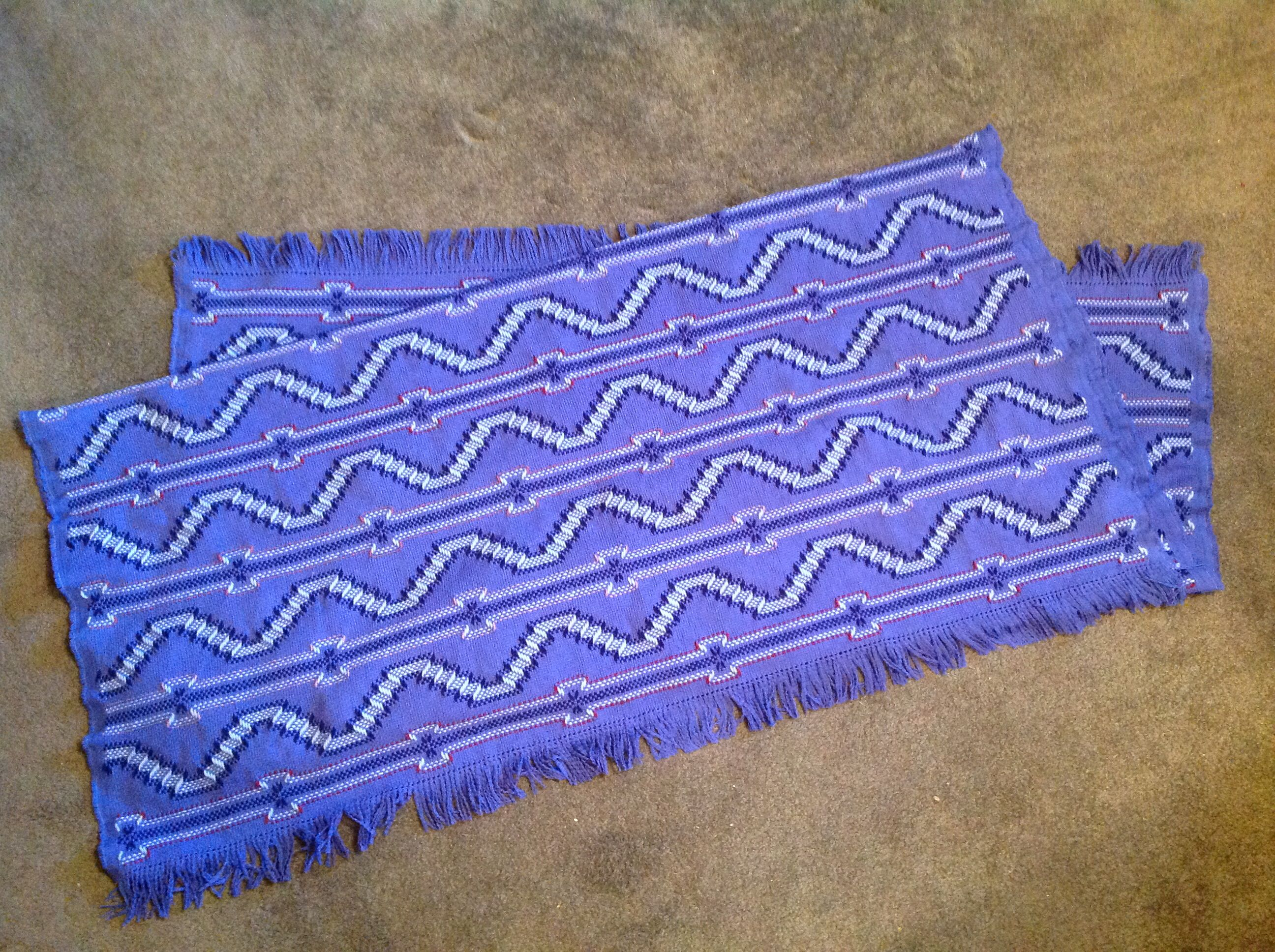 """""""Ocean Waves"""" - Learn to Make Monk's Cloth Afghans Swedish Weaving  Patterns, Swedish"""