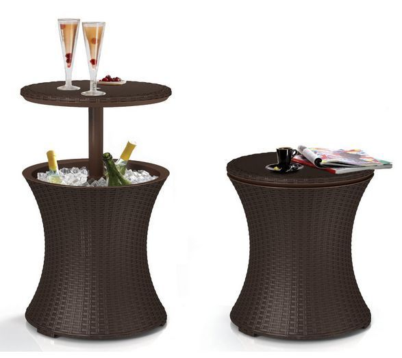 Outdoor Patio Furniture With Storage.Details About Patio Coffee Table Outdoor Deck Cocktail Yard Rattan