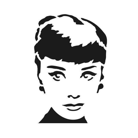 Audrey Hepburn Stencil - Reusable Plastic Stencil $9.50 ...
