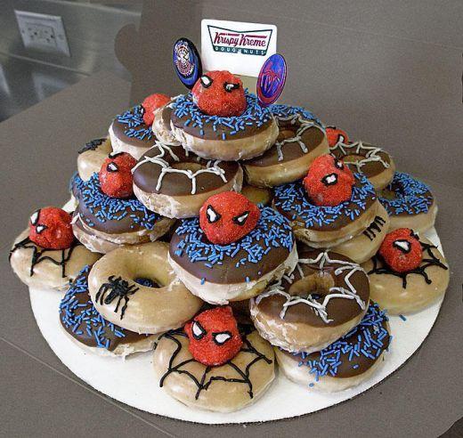 Donut Birthday Cake Ideas Birthday brunch Brunch and Birthdays