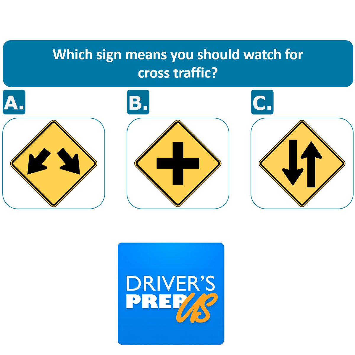 Which Sign Means You Should Watch For Cross Traffic