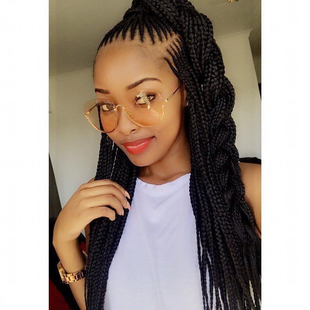 Tresses collées avec rajouts sur cheveux afro crépus