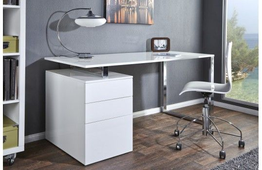 Http Mobiliernitro Com 33594 Thickbox Atch Bureau Design Leana Blanc Jpg Bureau Design Bureau Blanc Laque Meuble Bureau Design