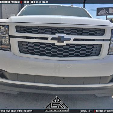 White Chevrolet Tahoe Blackout Front Grille And Emblem Chevrolet
